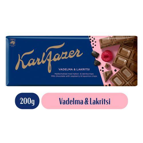KARL FAZER VADELMA-LAKRITSI 200 G