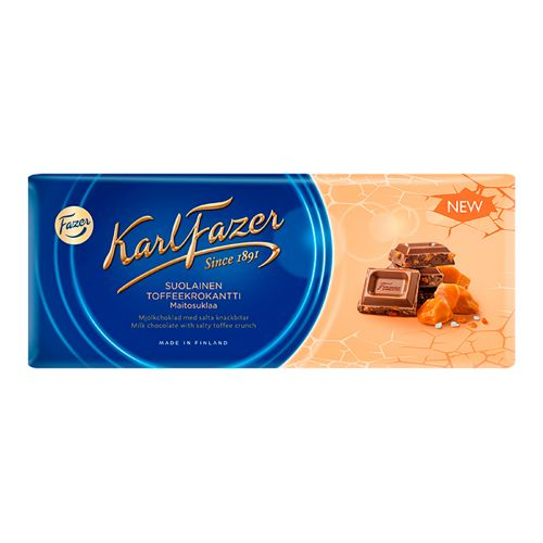 Karl Fazer Suolainen toffeekrokantti maitosuklaa 200g