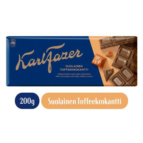 KARL FAZER SALTY TOFFEE CRUNCH 200 G