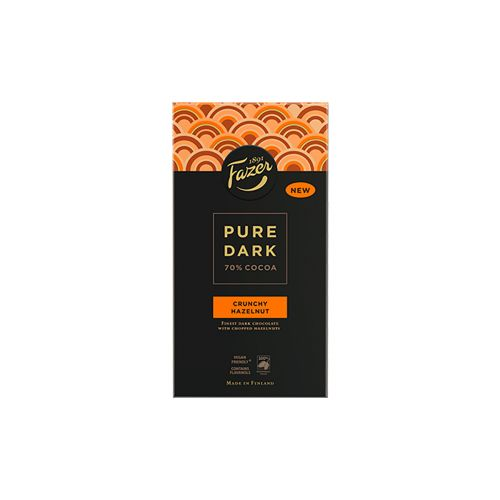 Fazer Pure Dark Hasselpähkinä tumma suklaa 95g