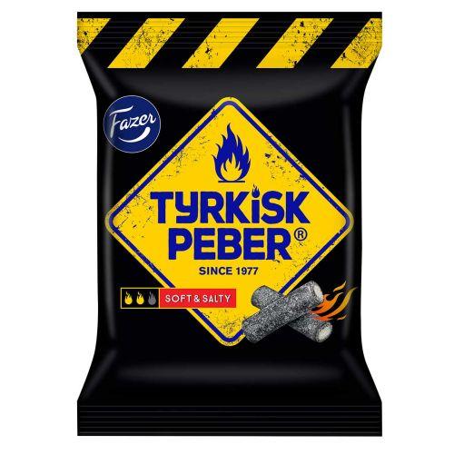 FAZER TYRKISK PEBER SOFT & SALTY SALMIAKKILAKRITSI 120 G