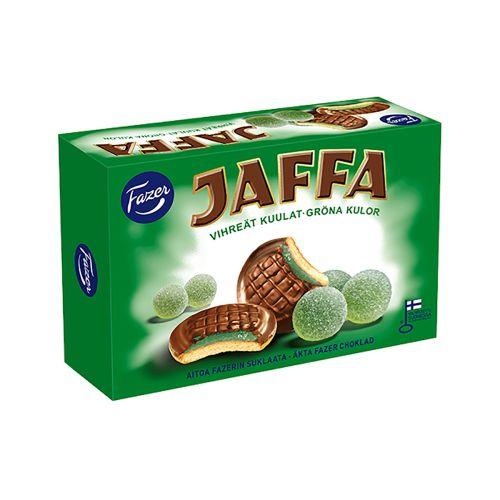 Fazer Jaffa Vihreät Kuulat täytekeksi 300g