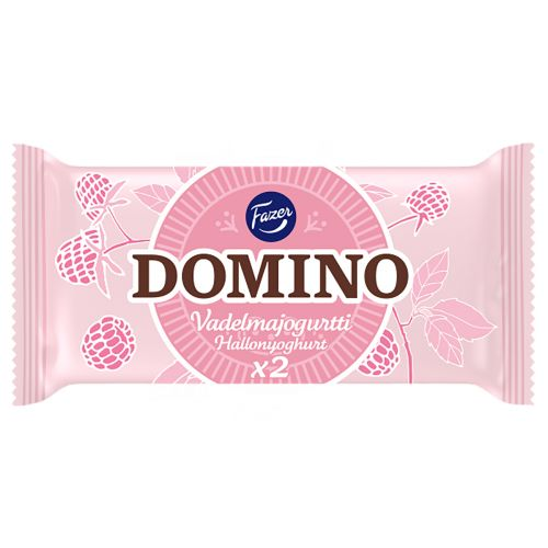 Fazer Domino vadelmajogurtti 2-pack 26g