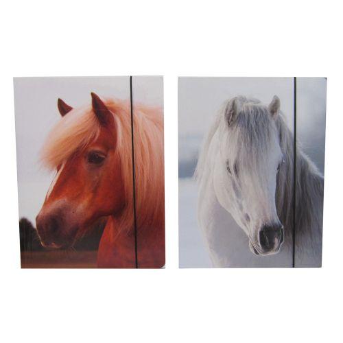 HORSE CLASSIC A4 KULMALUKKOKANSIO
