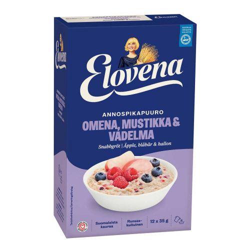 ELOVENA HETKI OMENA & VADELMA & MUSTIKKA ANNOSPIKAPUURO 420 G