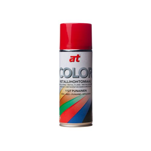 AT-COLOR METAL PUNAINEN  400 ML