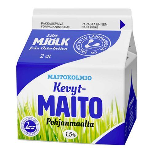 MAITOKOLMIO KEVYTMAITO 2DL 200 ML