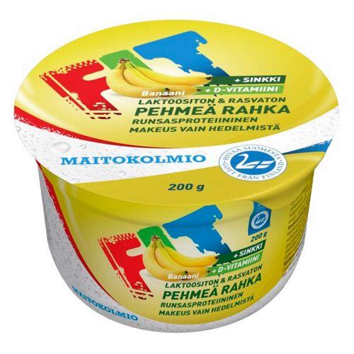 MAITOKOLMIO FIT PEHMEÄ RAHKA BANAANI LAKTON 200 G