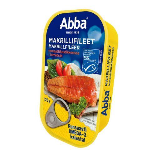 ABBA MAKRILLIFILEET TOMAATTIKASTIKKEESSA MSC 125 G