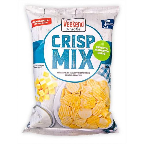 WEEKEND SNACKS CRISP MIX SOUR CREAM&CHEESE 180 G
