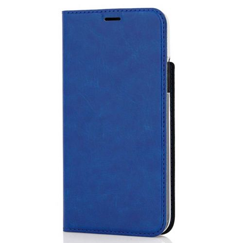 WAVE BOOK CASE, APPLE IPHONE X / XS, SININEN
