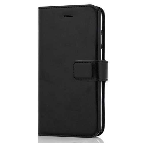 WAVE MULTIPOCKET BOOK CASE, APPLE IPHONE 8 / 7 / 6S / 6, MUSTA