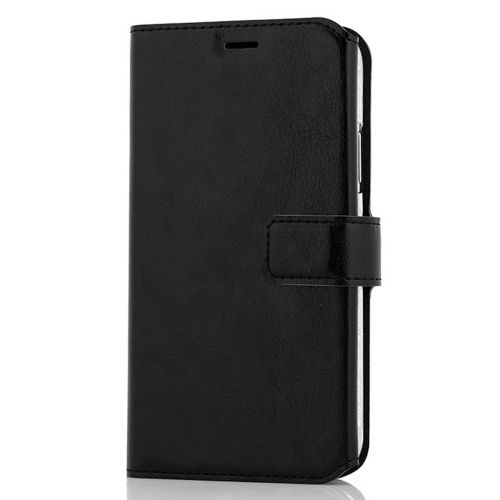WAVE MULTIPOCKET BOOK CASE, APPLE IPHONE X / XS, MUSTA