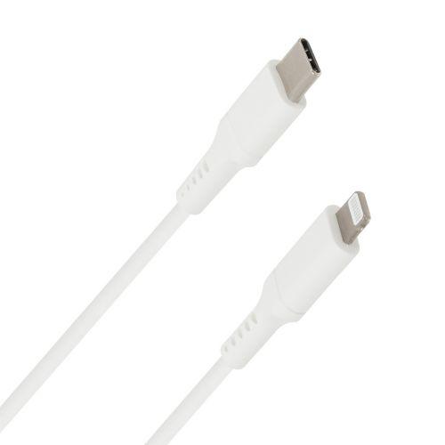 WAVE DATAKAAPELI USB TYPE-C APPLE LIGHTNING 1M VALKOINEN