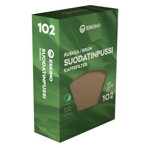 ESKIMO SUODATINPAPERI 102 RUSKEA 100KPL
