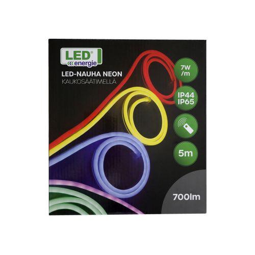 LED ENERGIE LED-NAUHA NEON 5M KAUKOSÄÄTIMELLÄ IP44/IP65 RGB+WW