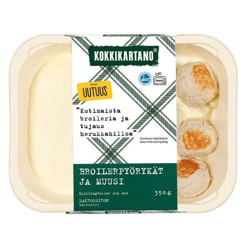 KOKKIKARTANO BROILERIPYÖRYKÄT JA MUUSI 350 G