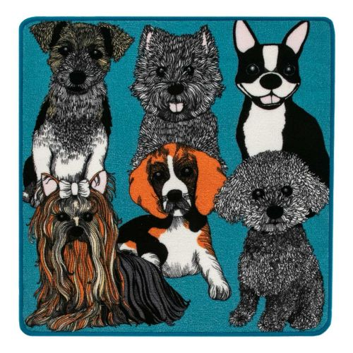 VALLILA MATTO DOGGIES 80X80CM PETROOLI