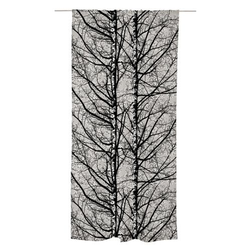 Vallila valmisverho Pihapuut 140x240cm tummanharmaa