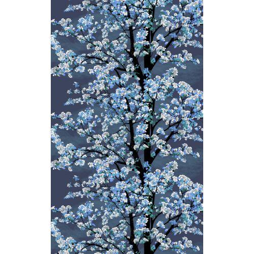 VALLILA VALMISVERHO OMENAPUU DARK BLUE 140X250 CM