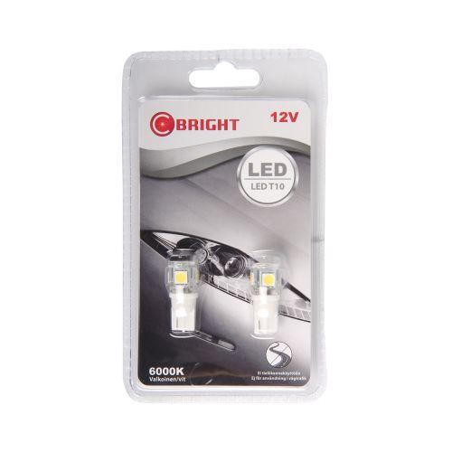 C-BRIGHT LED-POLTTIMOPARI 12V KW2,1X9,5D VALL. (12961, 5W)