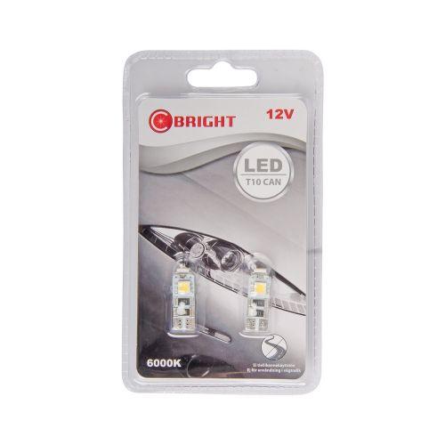 C-BRIGHT LED-POLTTIMOPARI 12V KW2,1X9,5D VALK.