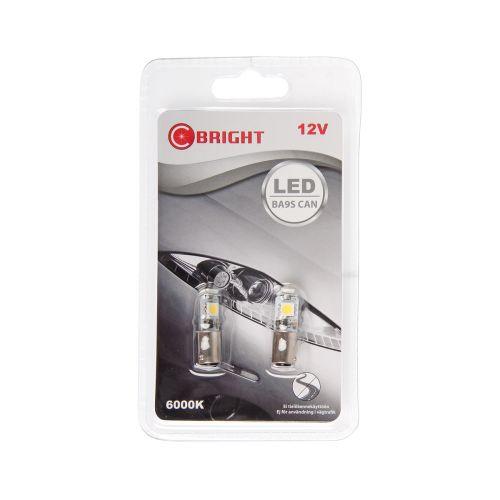C-BRIGHT LED-POLTTIMOPARI 12V BA9S VALK.