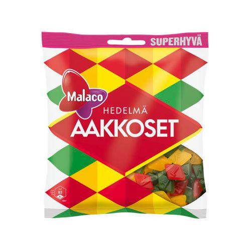 Malaco Aakkoset Hedelmä makeispussi 315g