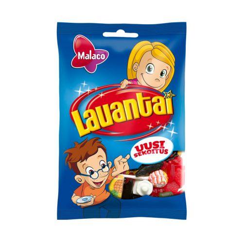 Malaco Lauantai -pussi makeissekoitus 150g