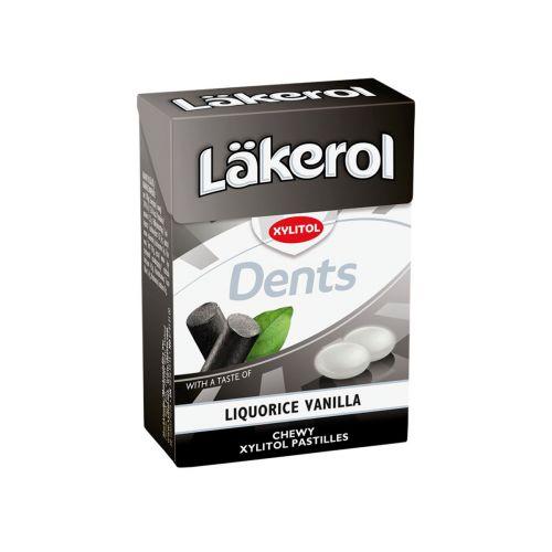 Läkerol Dents Liquorice Vanilla ksylitolipastilli 85g