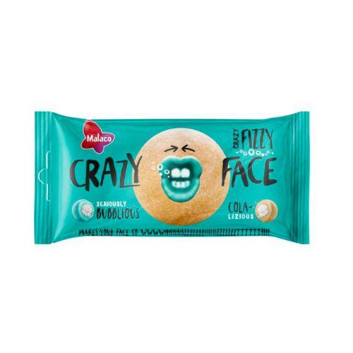 Crazy Face Fizzy Kirpeä Cola & Kupliva Fizzy 60g