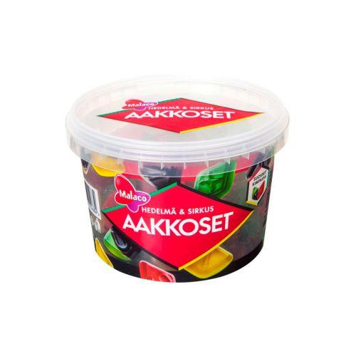 Aakkoset Sirkus&Hedelmä makeissekoitus 600g