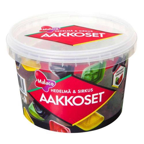 MALACO AAKKOSET SIRKUS&HEDELMÄ 600G 600 G