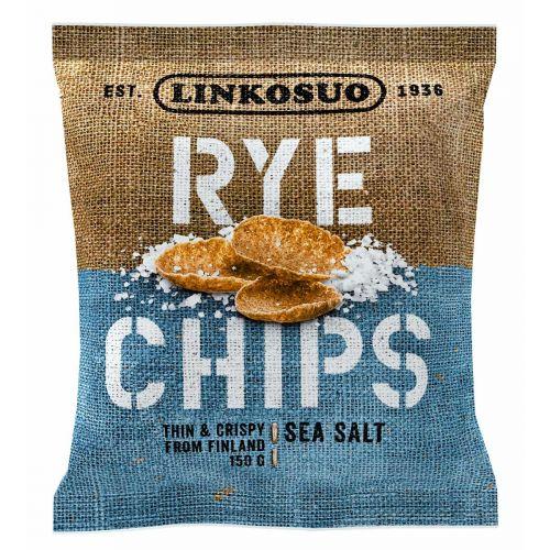 LINKOSUO RYE CHIPS SEA SALT  150 G