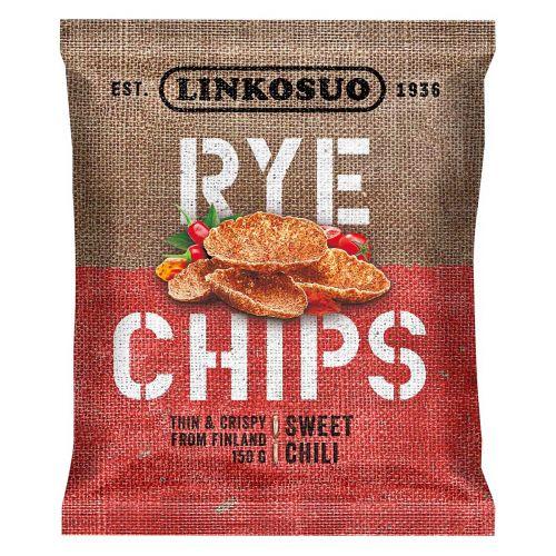 LINKOSUO RYE CHIPS SWEET CHILI 150 G