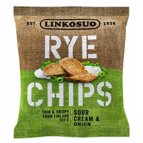LINKOSUO RYE CHIPS SOUR CREAM&ONION 150 G