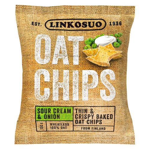 LINKOSUO OAT CHIPS SOURCREAM&ONION 150 G