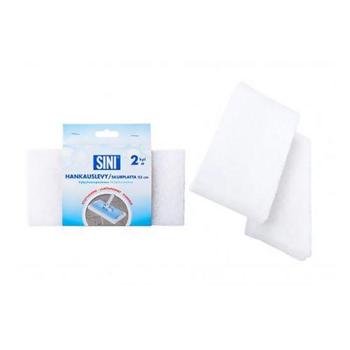 SINI hankauslevy kylpyhuonepesimeen valkoinen 23cm 2kpl