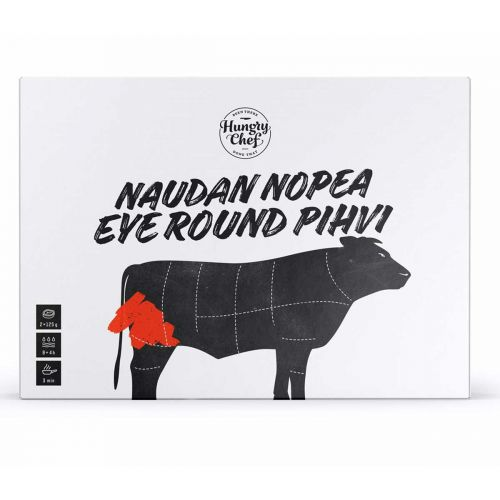 HUNGRY CHEF EYE ROUND NAUDANLIHA PIHVI 2KPL 250 G