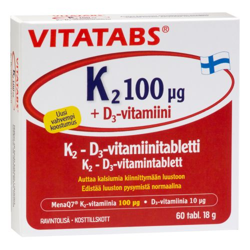 VITATABS K2 100MIKROGR. + D3  60 KPL