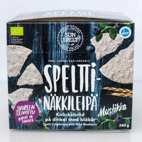 SUNSPELT LUOMU SPELT MUSTIKKANOKKONEN NÄKKILEIPÄ 240 G