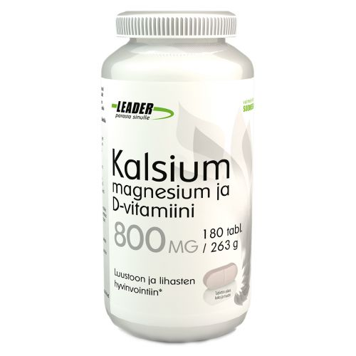 Leader Kalsium+Mg+D-Vitamiini 180 kpl