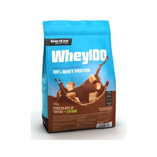 SPORTLIFE NUTRITION WHEY100 HERAPROTEIINI SUKLAA-TOFFEE/STEVIA 700 G