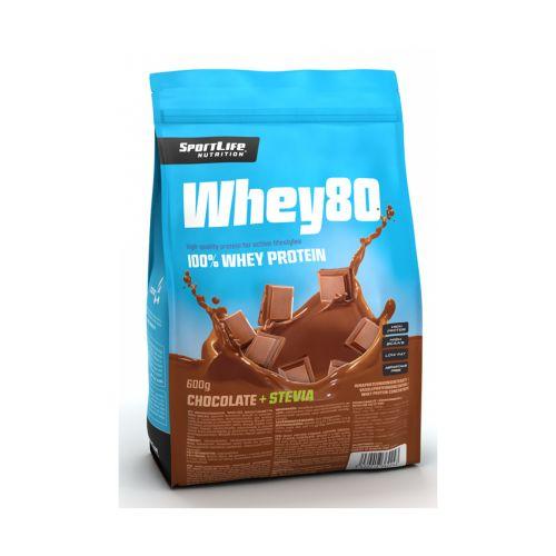 SPORTLIFE NUTRITION WHEY80 HERAPROTEIINIJAUHE SUKLAA/STEVIA 600 G
