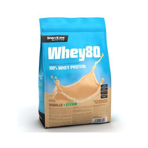 SPORTLIFE NUTRITION WHEY80 HERAPROTEIINIJAUHE VANILLA ICE CREAM/STEVIA 600 G