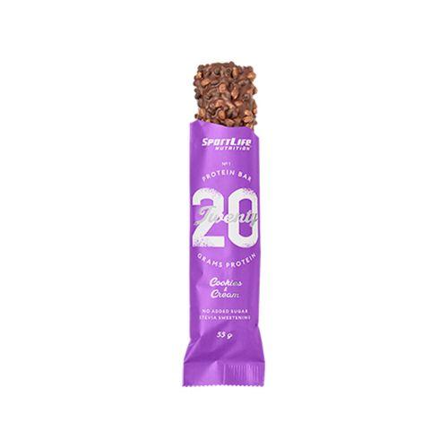 SPORTLIFE NUTRITION TWENTY PROTEIN BAR COOKEIS & CREAM 55 G
