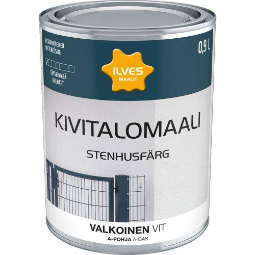 ILVES KIVITALOMAALI A-POHJA VALKOINEN 0,9L 900 ML