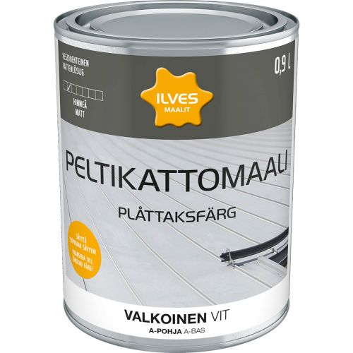 ILVES PELTIKATTOMAALI A-POHJA VALKOINEN 0,9L 900 ML