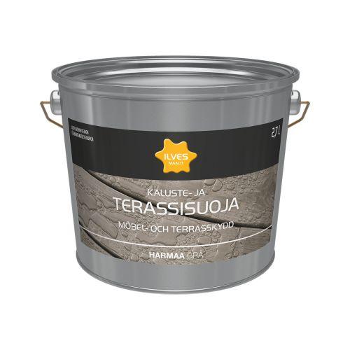 ILVES KALUSTE- JA TERASSISUOJA HARMAA 2,7L 2,7 L