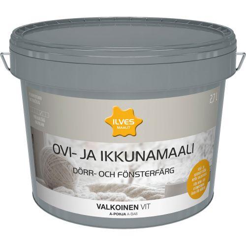 ILVES OVI- JA IKKUNAMAALI A-POHJA VALKOINEN 2.7L 2,7 L